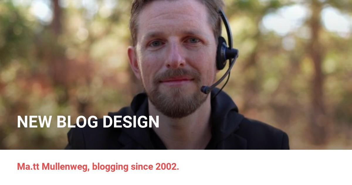 Photo Matt » New Blog Design
